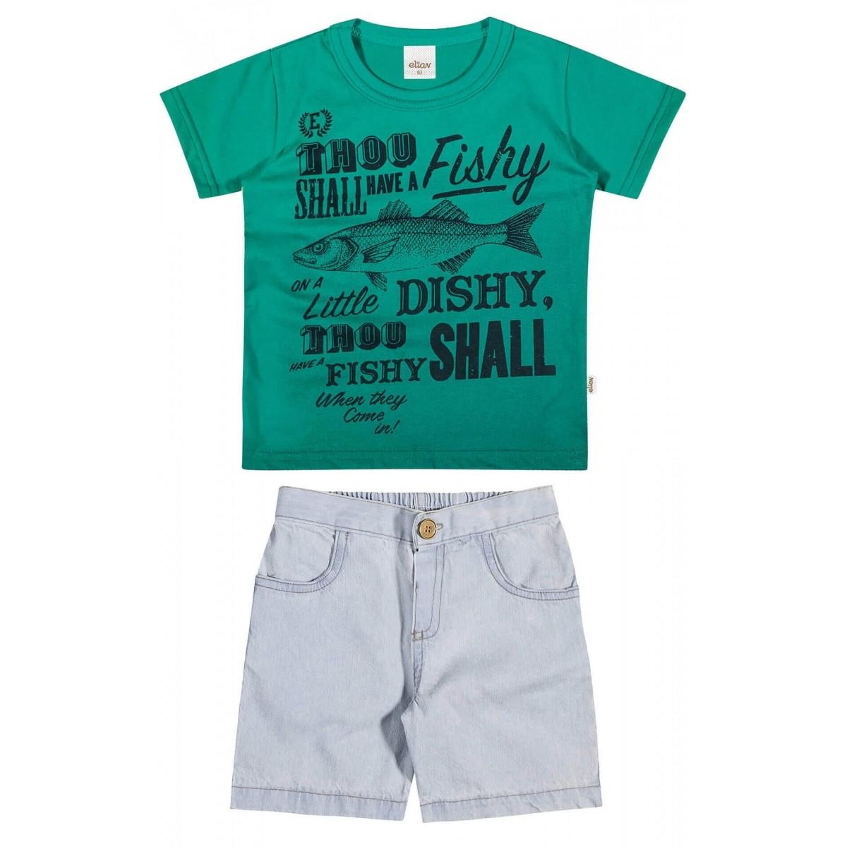 Conjunto Masculino Infantil Verde Fishy Elian