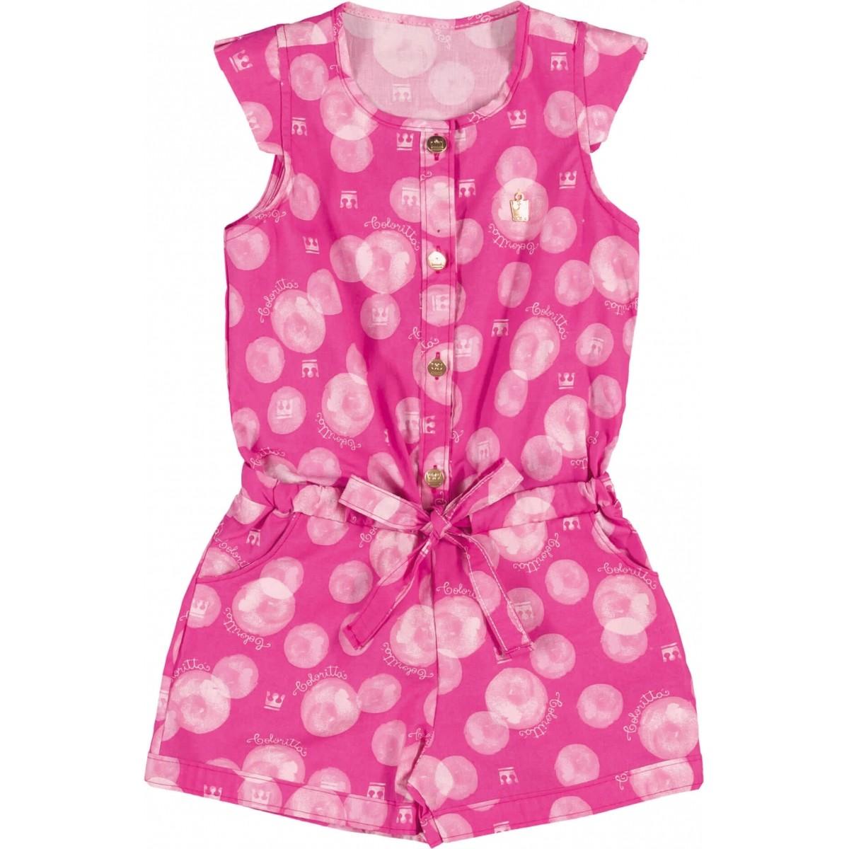 Vestido Infantil Feminino Rosa Verão Colorittá  193f1360da55b