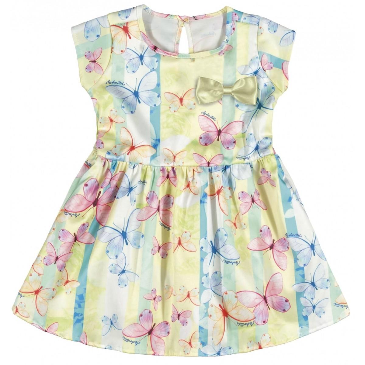 Vestido Infantil Feminino Verde Verão Colorittá  a646b559e7f0e