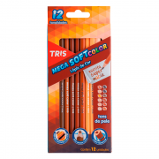 6 Caixas de Lápis de Cor Mega Soft Color 12 Cores Tons de Pele Tris