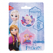 Apontador 1 Furo com Depósito + 1 Borracha Frozen Basic Set Tris