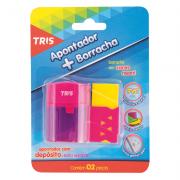 Apontador 1 Furo com Depósito + 1 Borracha Tris
