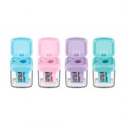 Apontador com Depósito Tons Pastel Minibox Faber Castell