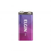 Bateria Alcalina Recarregável 9v Elgin