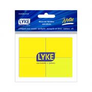 Bloco Auto-Adesivo 38x50mm 100 Folhas Amarelo Lyke