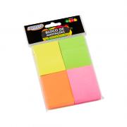 Bloco de Anotações Neon 38 x 51mm Colorido BRW