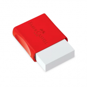 Borracha Branca Pequena com Capa TK Faber Castell
