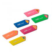 Borracha Escolar Colorida Monolit Tris
