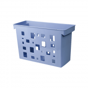 Caixa Arquivo Azul Claro Sem Pasta Suspensa DelloColor