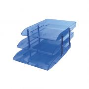Caixa Correspondência Azul Articulável Tripla Dello