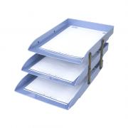 Caixa Correspondência Azul Claro Articulável Tripla Dello