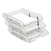 Caixa Correspondência Cristal Tripla Móvel Super X Acrimet