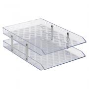 Caixa de Correspondência Dupla Fixa Cristal Waleu