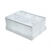 Caixa Organizadora de Objetos Cristal com 6 Divisores Dello