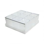 Caixa Organizadora de Objetos Cristal com 9 Porta Objetos