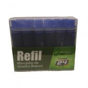 Caixa Refil Marcador Quadro Branco Azul 24 und NeoMundi