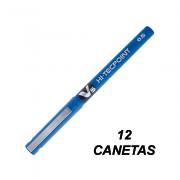 Caneta 0,5 mm V5 Hi-Tecpoint Azul 12 und Pilot