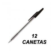 Caneta Esferográfica 0.7 mm Fina BP-S Preta 12 und Pilot