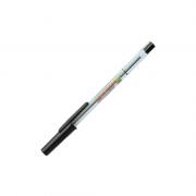 Caneta Esferográfica Fina 0.7mm Preta Compactor