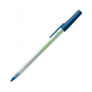 Caneta Esferográfica Média 1.0mm Azul Ecolutions Round Stic Bic