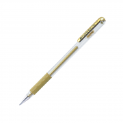 Caneta Gel 0.8mm Dourado Hybrid Gel Grip Pentel