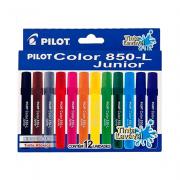 Caneta Hidrográfica Pilot Color 850L Junior 12 Cores