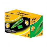 Caneta Marca Texto Verde 12 Unidades Bic Marking