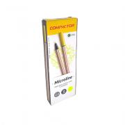 Caneta Microline 0,4mm Amarelo 12 und Compactor