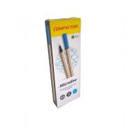 Caneta Microline 0,4mm Azul Claro 12 und Compactor