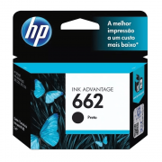 Cartucho de Tinta 662 Preto 2ml HP