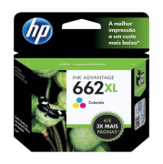 Cartucho de Tinta 662XL Colorido 8ml HP