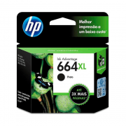 Cartucho de Tinta 664XL Preto 8,5ml HP