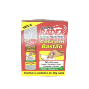 Cola Bastão Ecola 20gr 6 unidades Radex