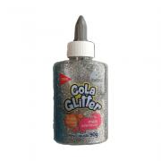 Cola Glitter Lavável 90gr Prata Tris