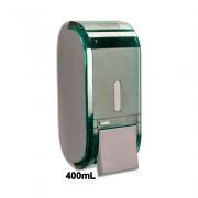 Dispenser de Sabonete com Reservatório 400mL Glass Verde Urban Compacta Premisse