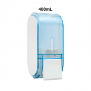 Dispenser Sabonete com Reservatório 400mL Glass Azul Urban Compacta Premisse