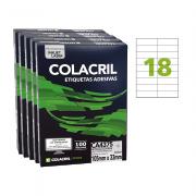 Etiqueta A4 105mm x 33mm 500 folhas CA4375 Colacril