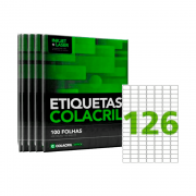 Etiqueta A4 15mm x 26mm 500 folhas CA4349 Colacril