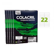 Etiqueta A4 25,4mm x 99mm 500 folhas CA4354 Colacril