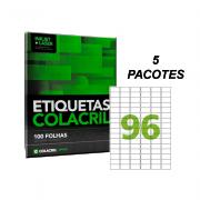 Etiqueta A4 38,1mm x 63,5mm 500 folhas CA4348 Colacril