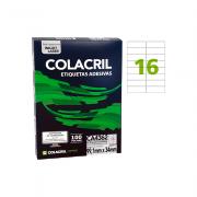 Etiqueta A4 99,1mm x 34mm 100 folhas Colacril