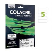 Etiqueta A5 105 mm x 35 mm 12 Folhas CA535105 Colacril