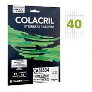 Etiqueta A5 15 mm x 34 mm 12 Folhas CA51534 Colacril