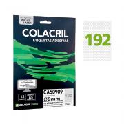 Etiqueta A5 Ø 9 mm 12 Folhas CA50909 Colacril