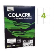 Etiqueta Carta 138,11mm x 106,36mm 100 folhas Colacril