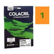 Etiqueta Carta 279,4 x 215,9 mm 10 Folhas Laranja CCF86 Colacril