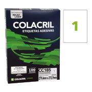 Etiqueta Carta 279,4mm x 215,9mm 100 Folhas CC185 Colacril