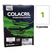 Etiqueta Carta 279,4mm x 215,9mm 500 Folhas CC185 Colacril