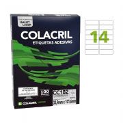 Etiqueta Carta 33,9mm x 101,6mm 25 folhas CC282 Colacril