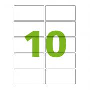 Etiqueta Carta 50,8mm x 101,6mm 25 Folhas 61283 Hardcopy